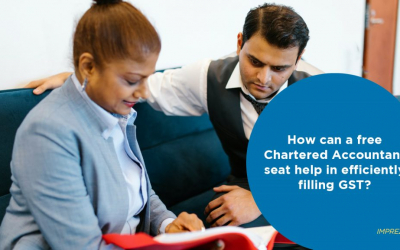 How can a free Chartered Accountant seat help in efficiently filling GST?