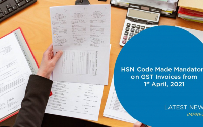 HSN Code Made Mandatory On GST Invoices From 1st April 2021